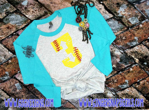 3 up 3 down Softball Grunge Number vintage style Sublimation Transfers