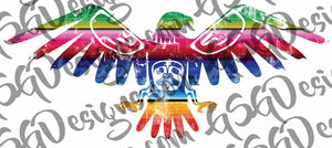 Serape Thunderbird Digital Design File PNG