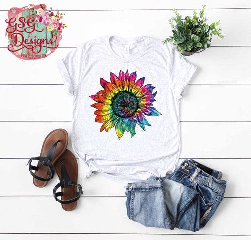 Tie Dye Sunflower Sublimation Transfers