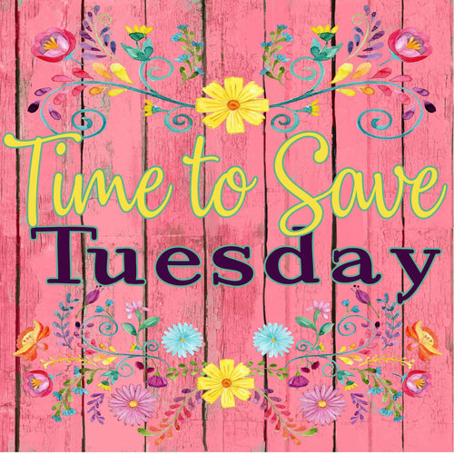 Time to Save Tuesday Sublimation Transfers Bundle