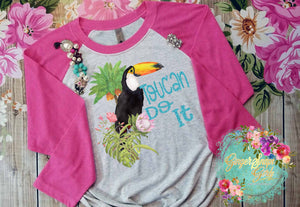Toucan Do It Watercolor Toucan Printable and Sublimation Digital File