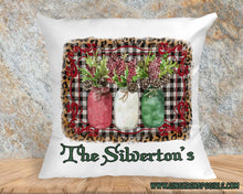 Load image into Gallery viewer, Christmas Holly in jars Red & Green Boho Sublimation Transfers