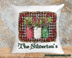 Christmas Holly in jars Red & Green Boho Sublimation Transfers
