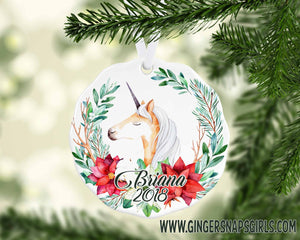 Christmas Unicorn Personalized Sublimation Transfers