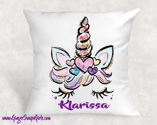 Custom Unicorn Personalized Floral Glitter & Watercolor Sublimation Transfers