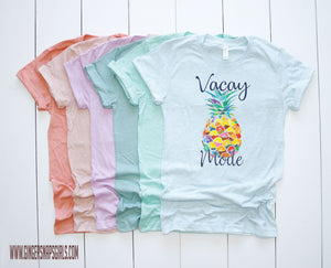 Vacay Mode Pineapple Watercolor Digital Design File PNG