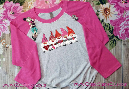 Valentine's Day Gnomes with Hearts Sublimation Transfers