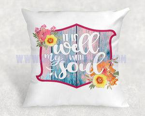 It is Well with My Soul Floral vintage style Sublimation Transfers