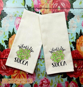 What's Up Succa' Cactus Sublimation Transfers