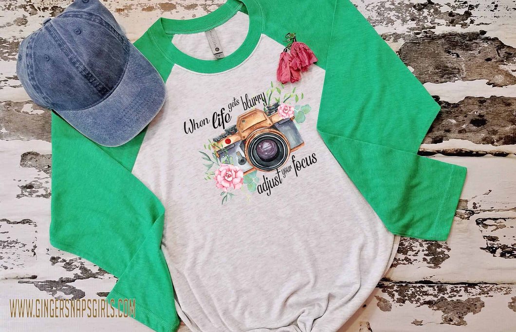 When Life Gets Blurry, Adjust Your Focus Watercolor Floral Camera Sublimation Transfers