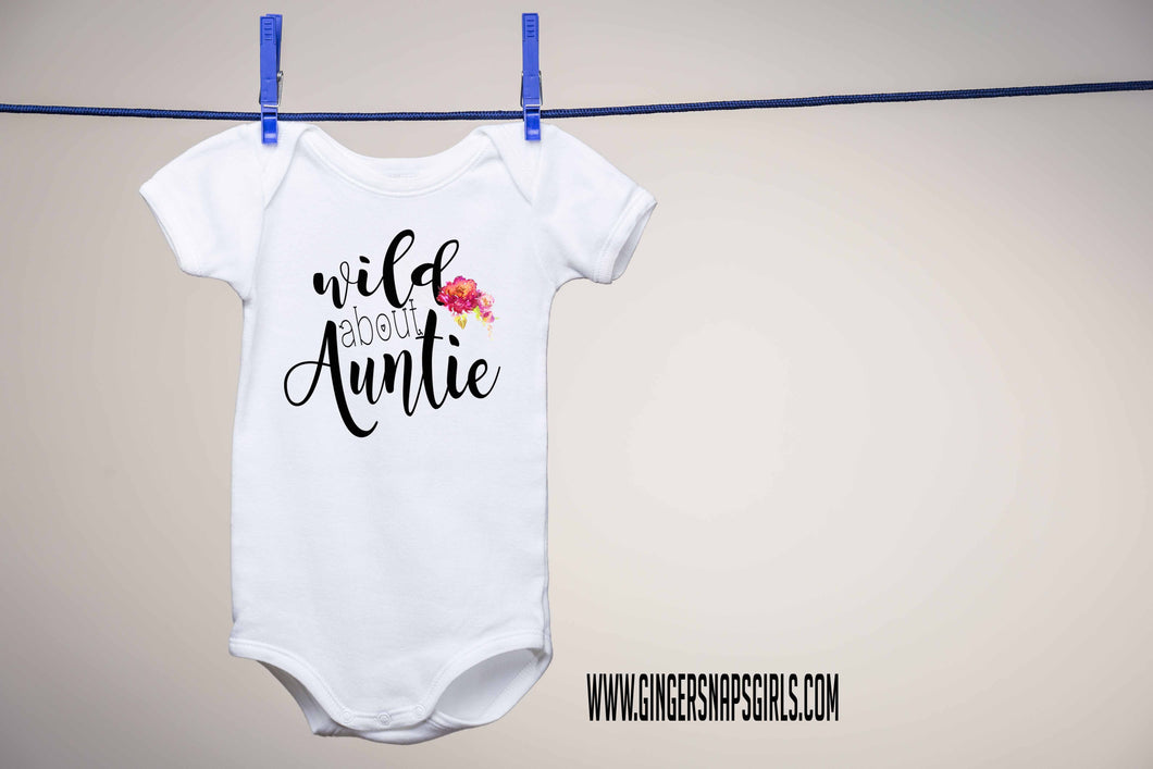 Wild About Auntie Personalized Sublimation Transfers
