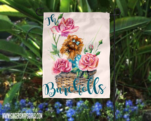 Yorkie Floral Personalized Watercolor Sublimation Transfers