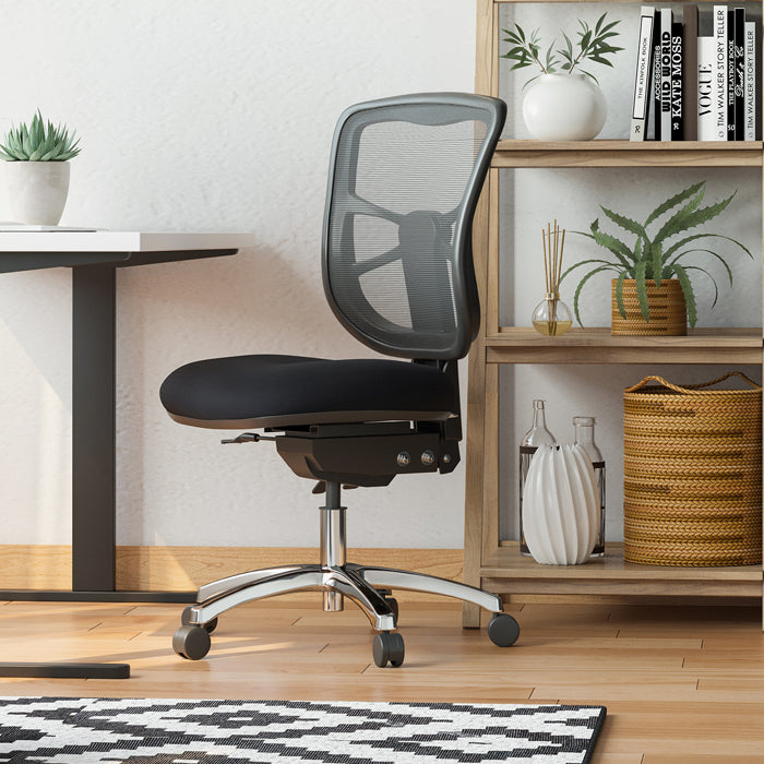 buro metro office chair with black and white desk