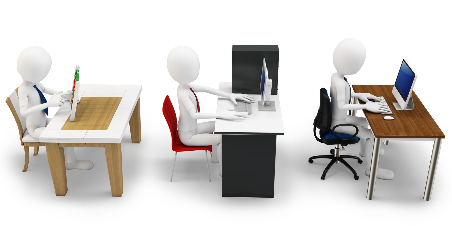 3-D office chair evolution