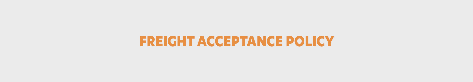 freight acceptance