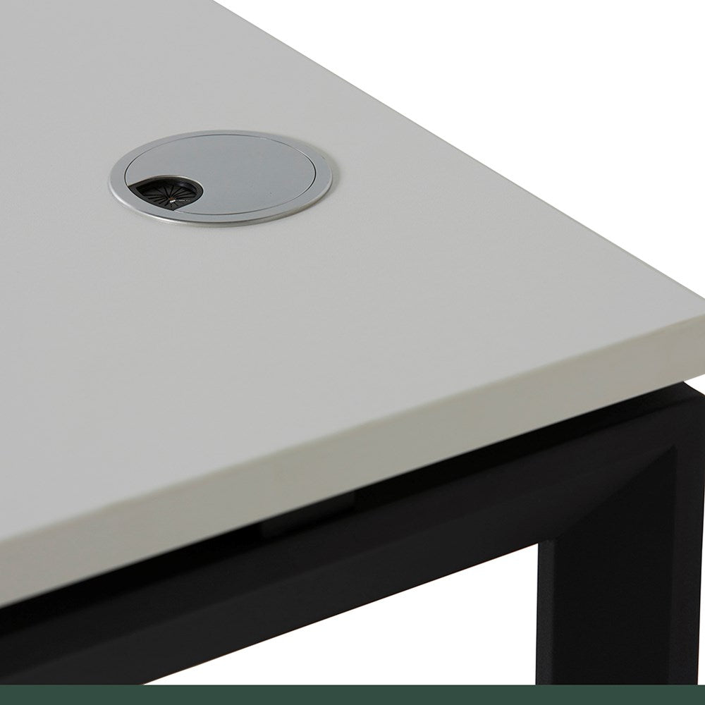 Novah Corner Desk - Black / White