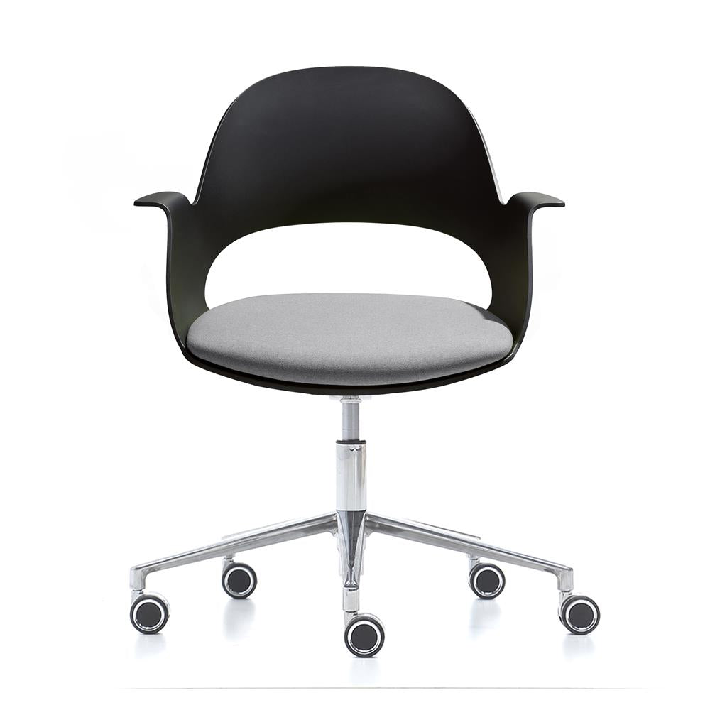 Mobel Alava Chair with Wheeled Chrome Base