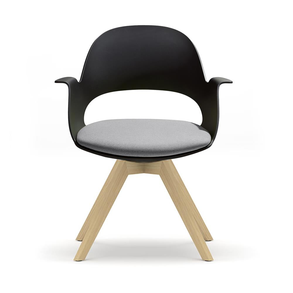 Mobel Alava Chair with Wooden Base