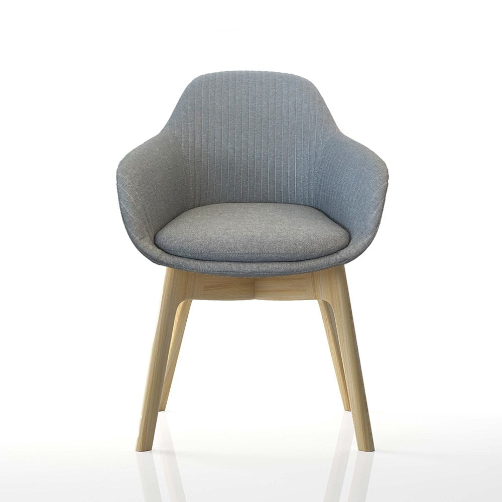 Mobel Ava Chair with Wood Leg Base