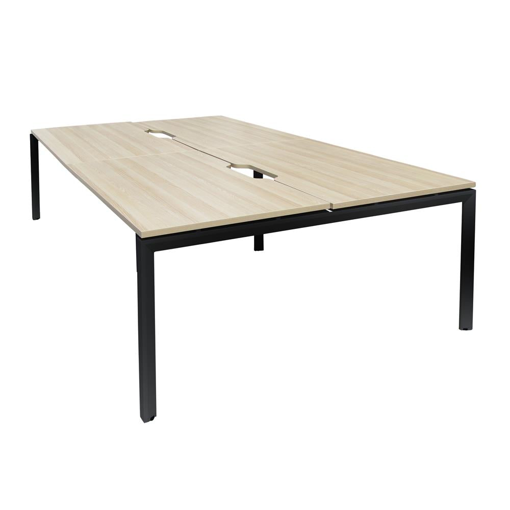 Mobel Novah 1500 Double-Sided Shared Desk – Black / Oak