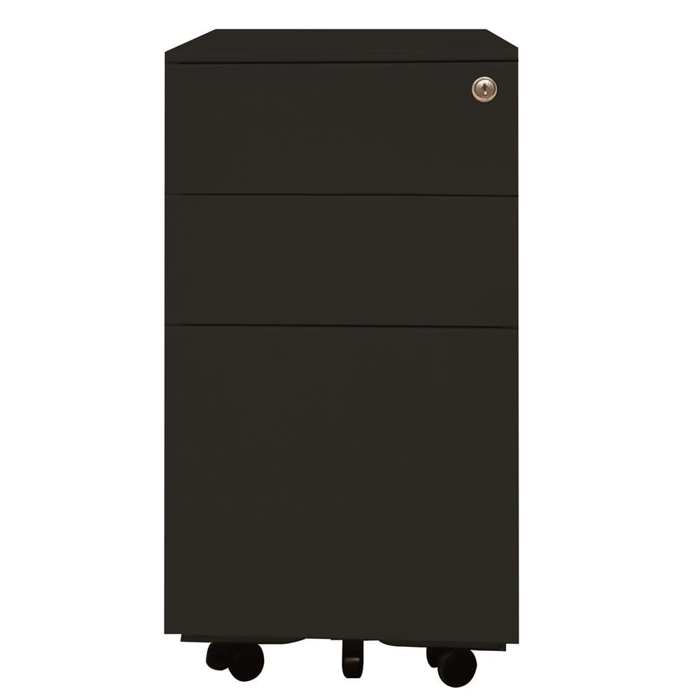 Mobel Milano 300 Slimline 2-Drawer and File Mobile Storage Unit