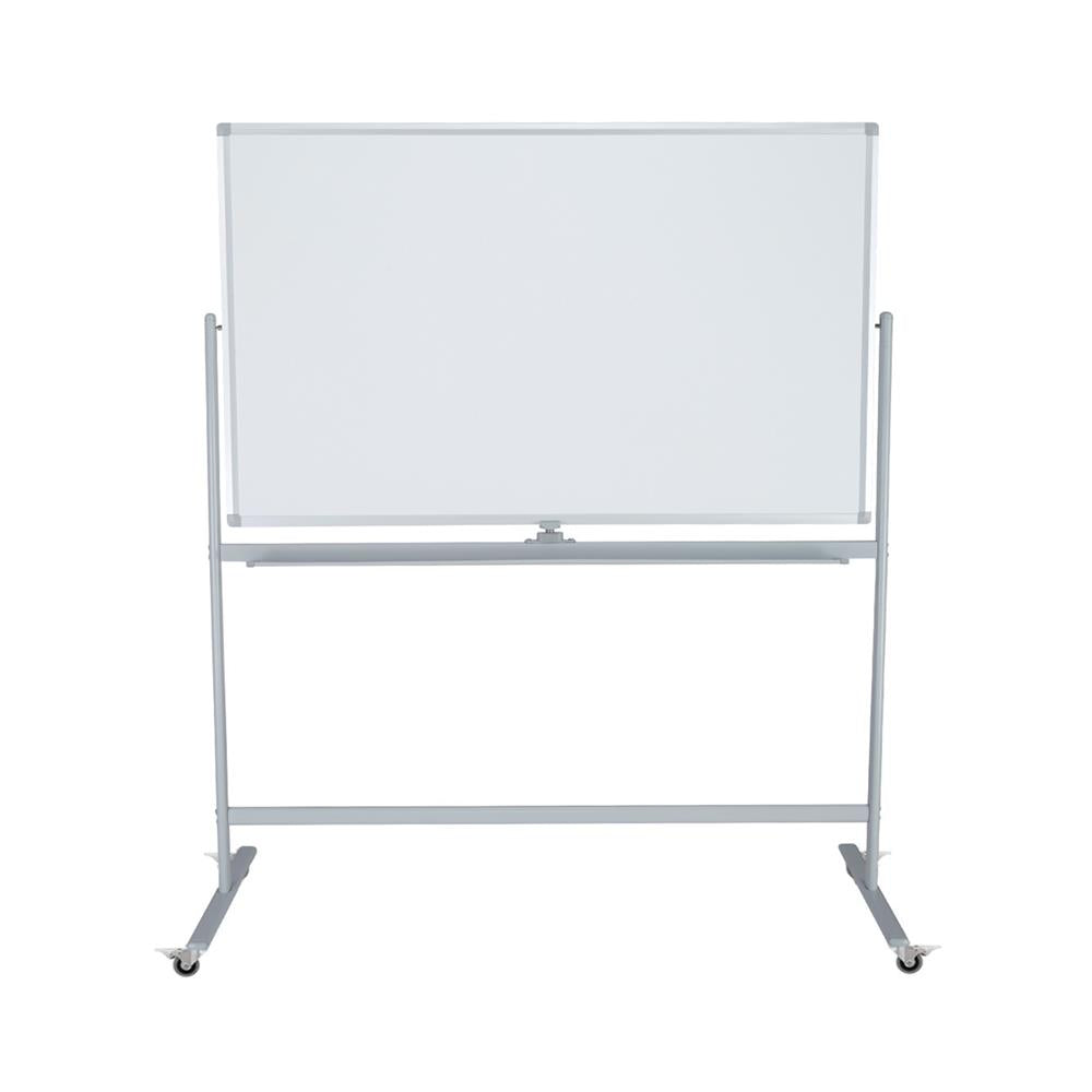Mobile Pivoting Double-Sided Porcelain Whiteboard