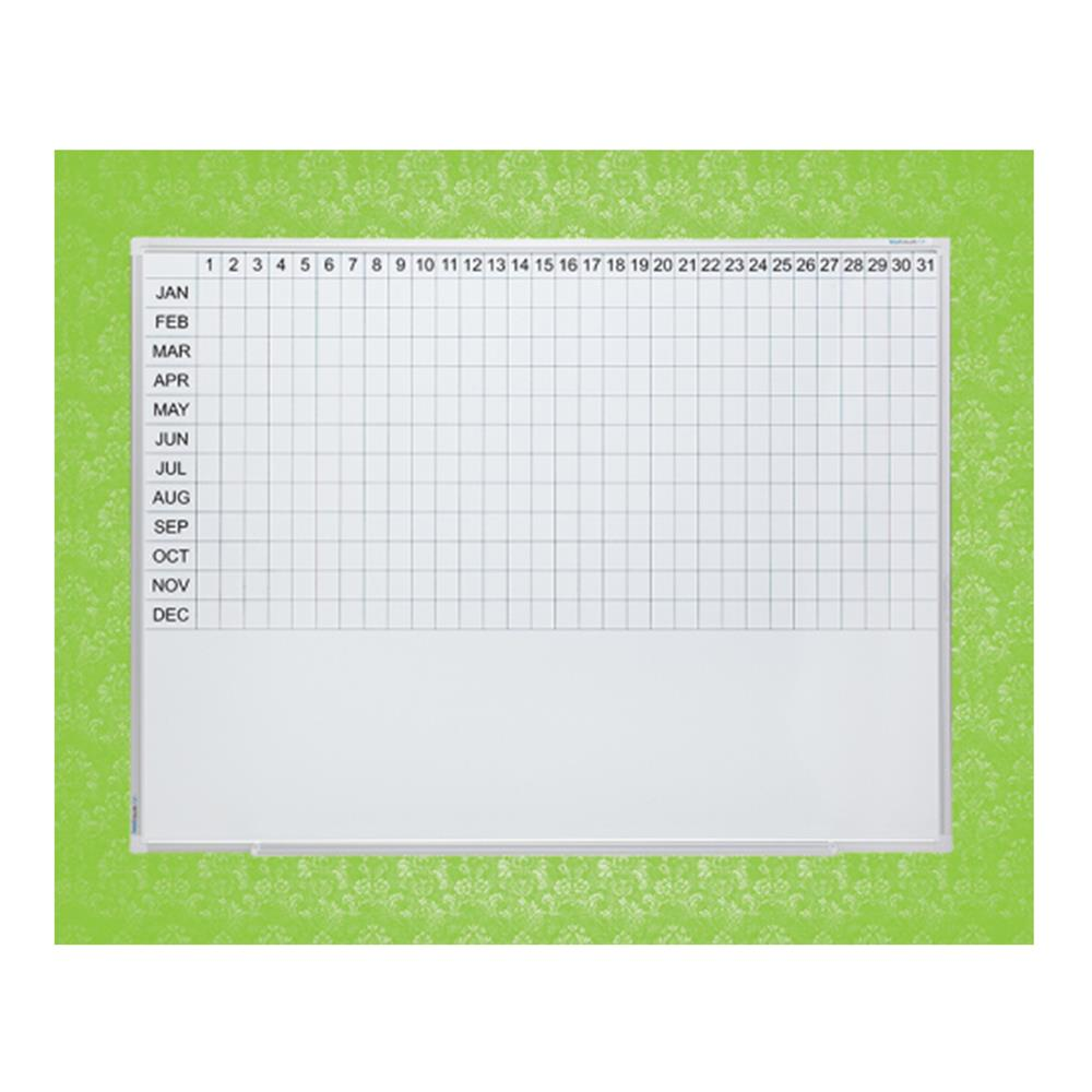Year Planner Porcelain Whiteboard