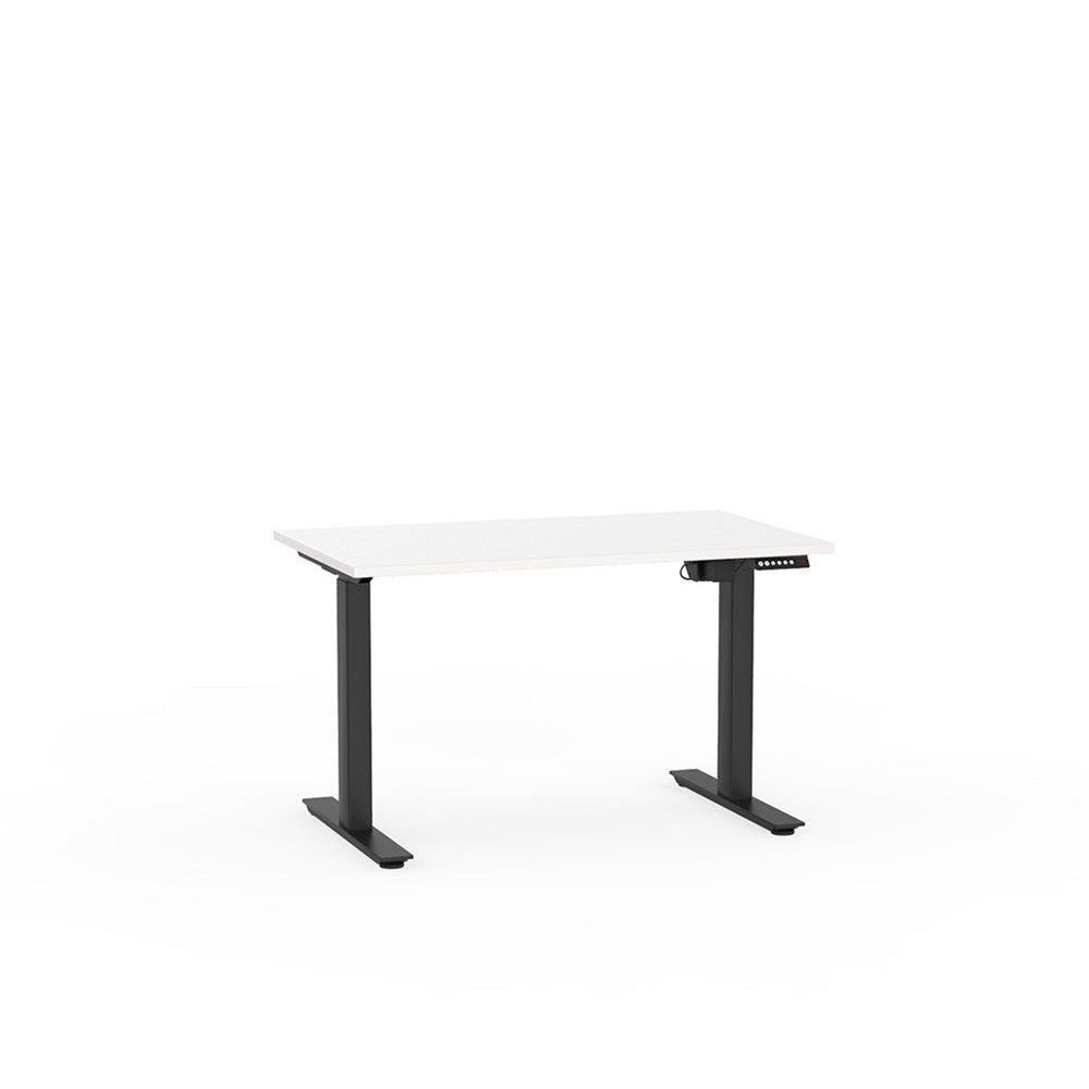 Agile Electric Height Adjustable Desk - Black / White