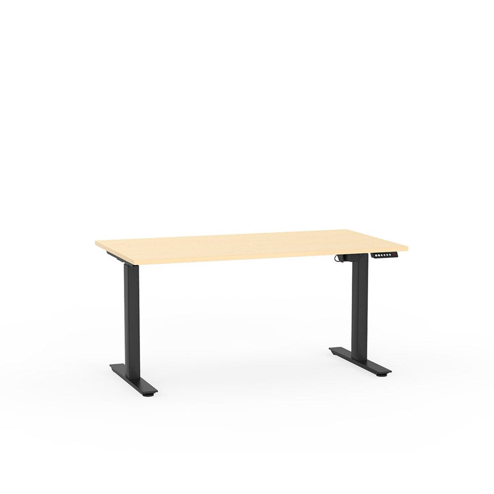 Agile Electric Height Adjustable Desk - Black / Nordic Maple