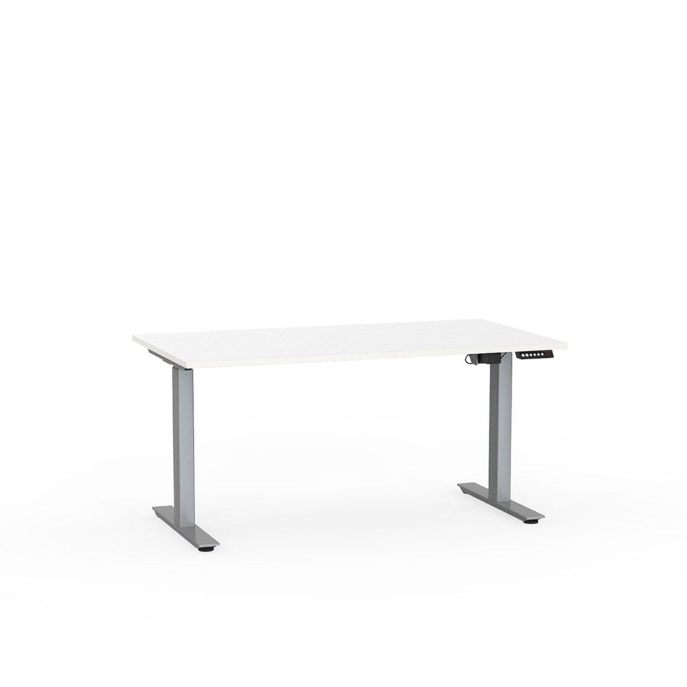 Agile Electric Height Adjustable Desk - Silver / White