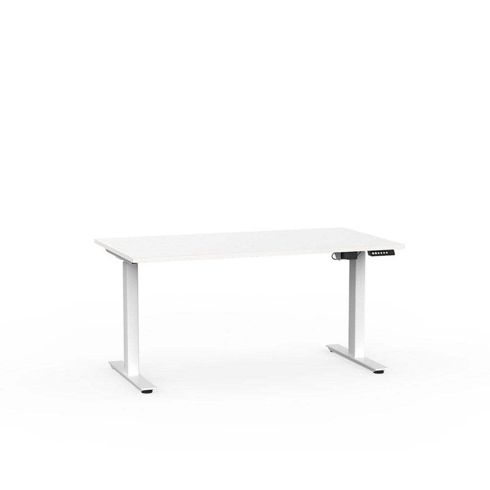 Agile Electric Height Adjustable Desk - White / White