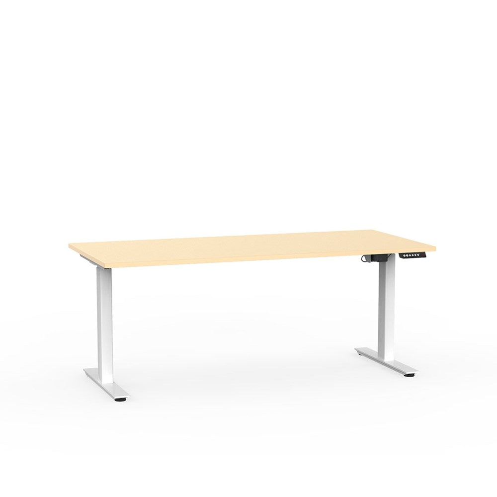 Agile Electric Height Adjustable Desk - White / Nordic Maple