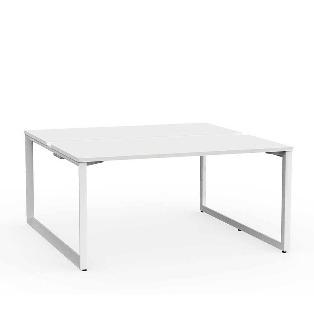 Anvil White Frame 1500 Double-Sided Shared Desk – 2 Person