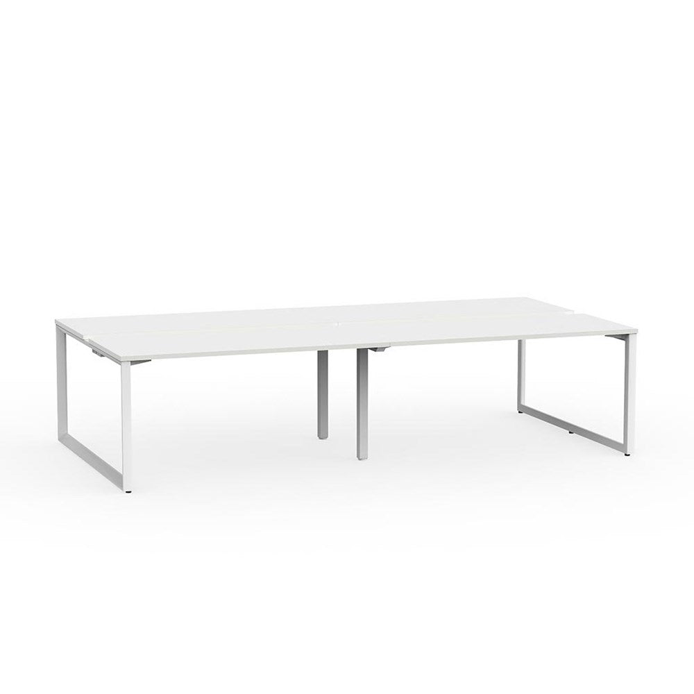 Anvil White Frame 1500 Double-Sided Shared Desk – 4 Person