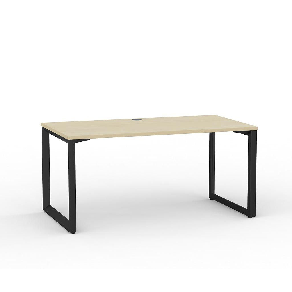 Anvil Straight Desk – Black / Nordic Maple