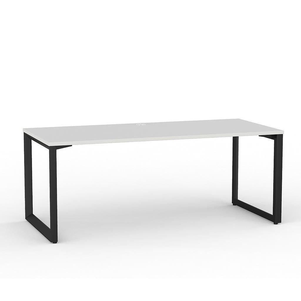 Anvil Straight Desk – Black / White