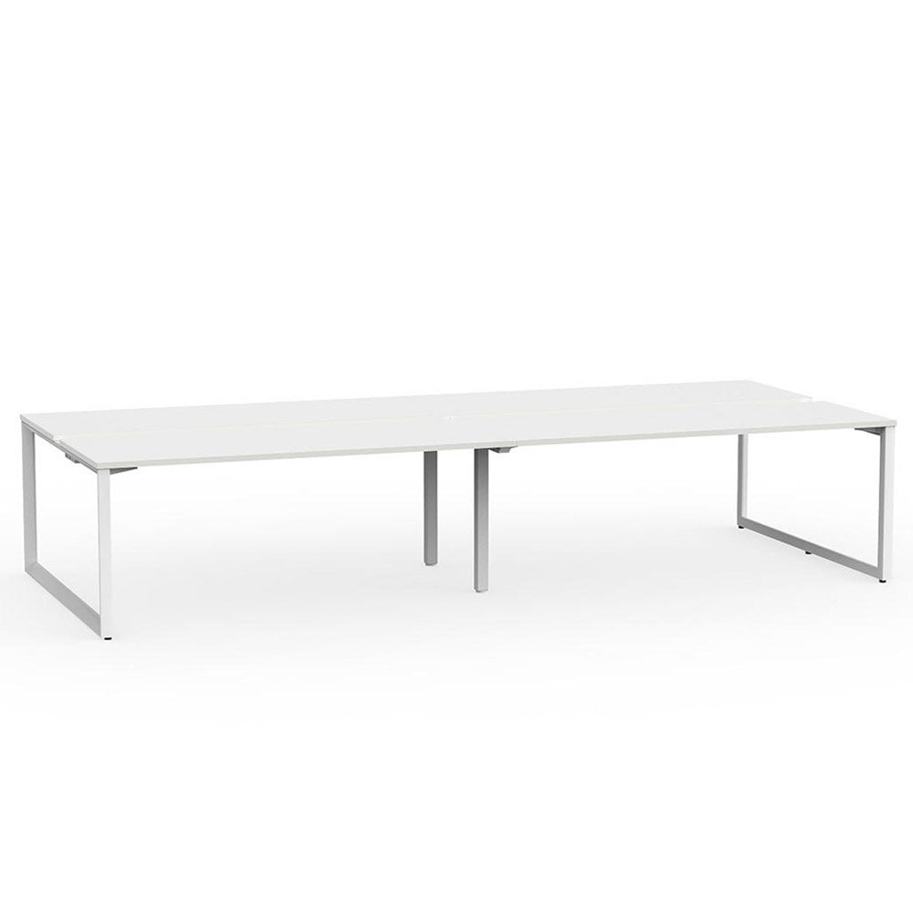 Anvil White Frame 1800 Double-Sided Shared Desk – 4 Person