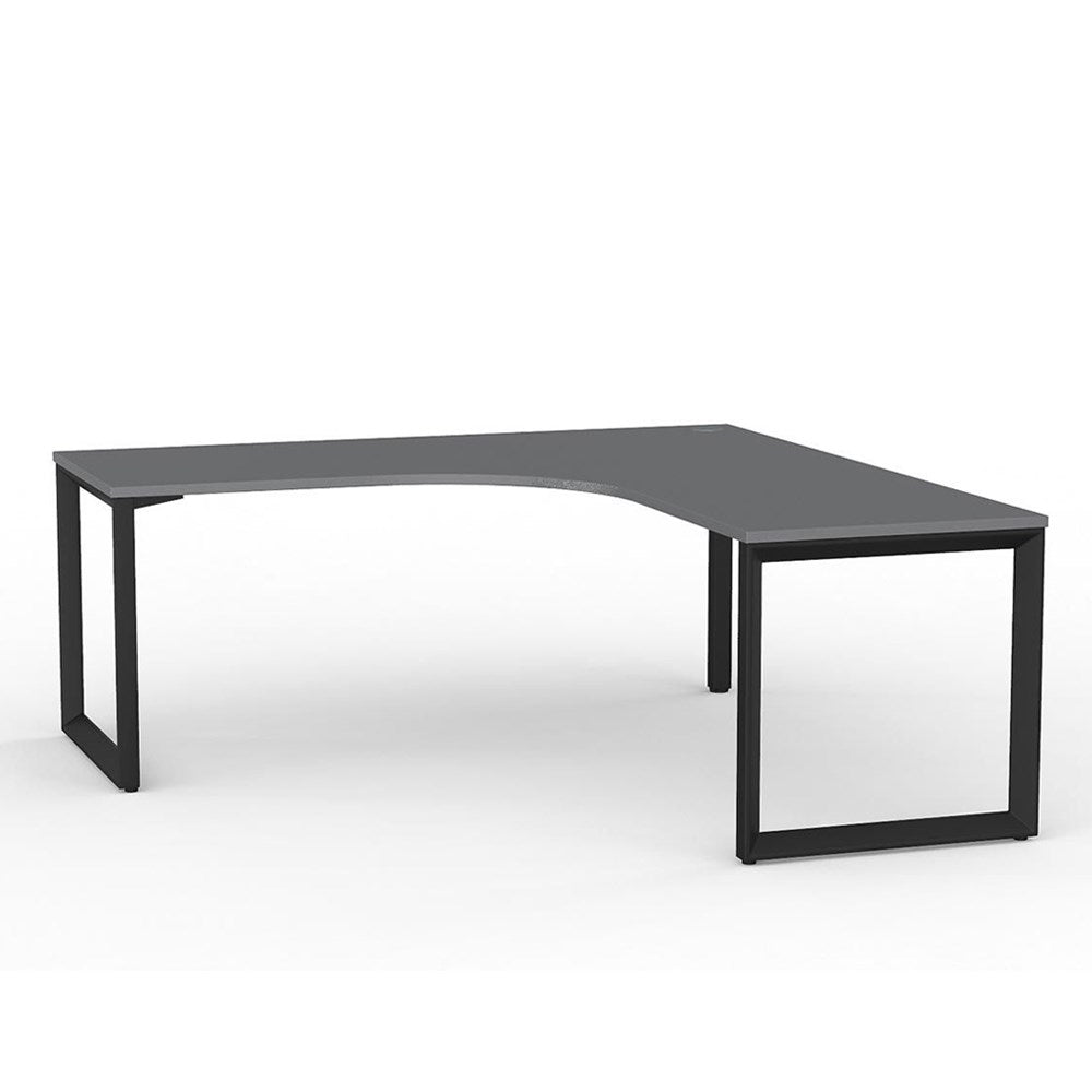 Anvil Corner Desk – Black / Silver