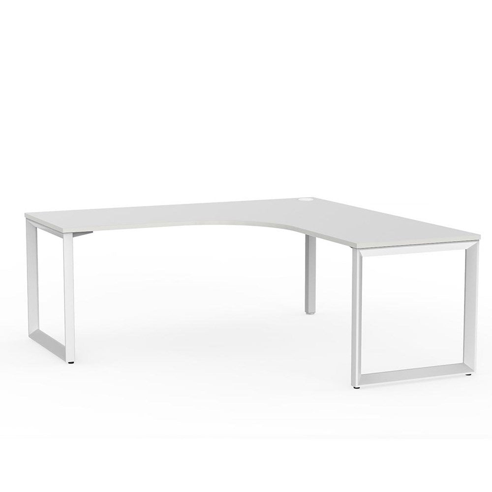 Anvil Corner Desk – White / White