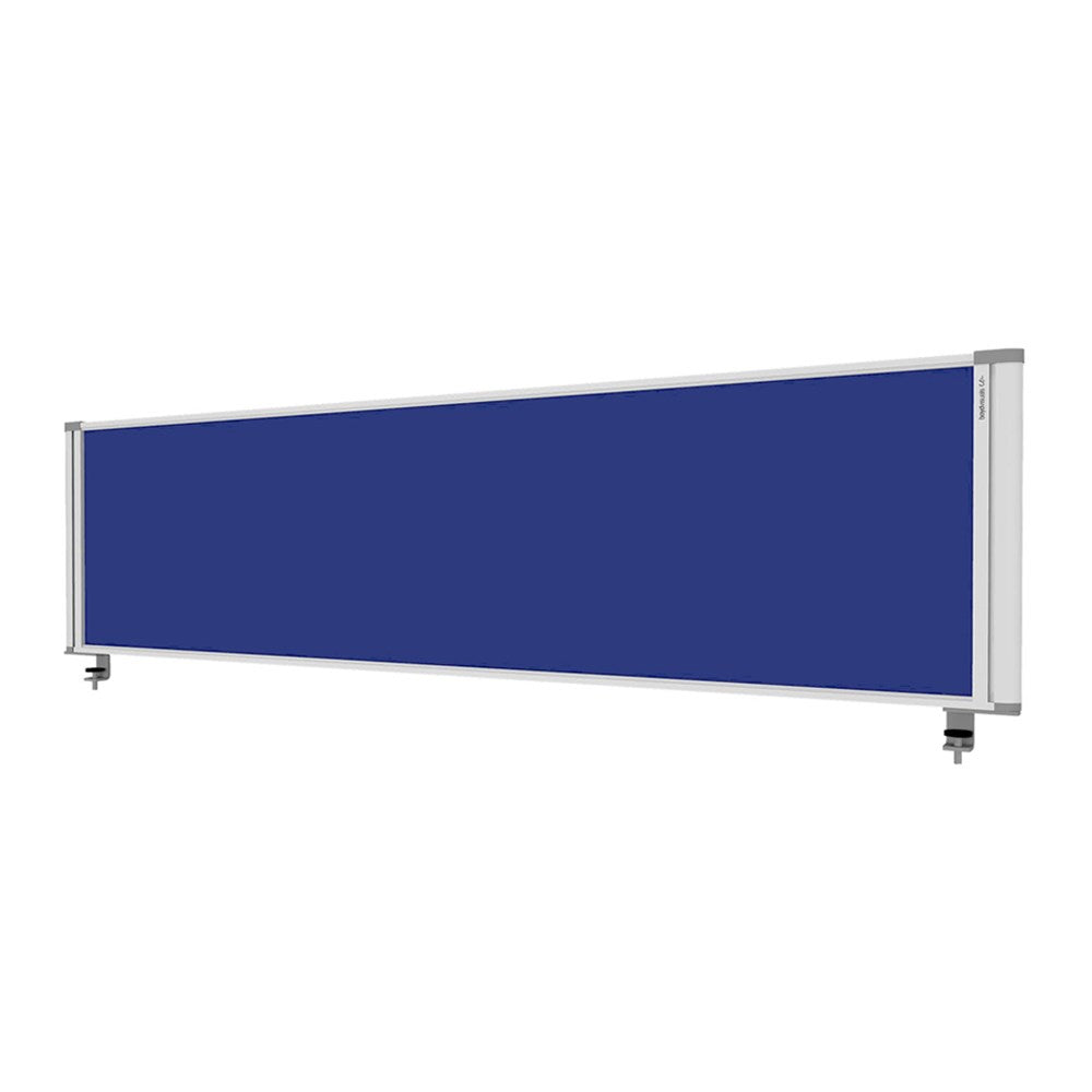 Boyd Desk Mounted Blue Fabric Partition