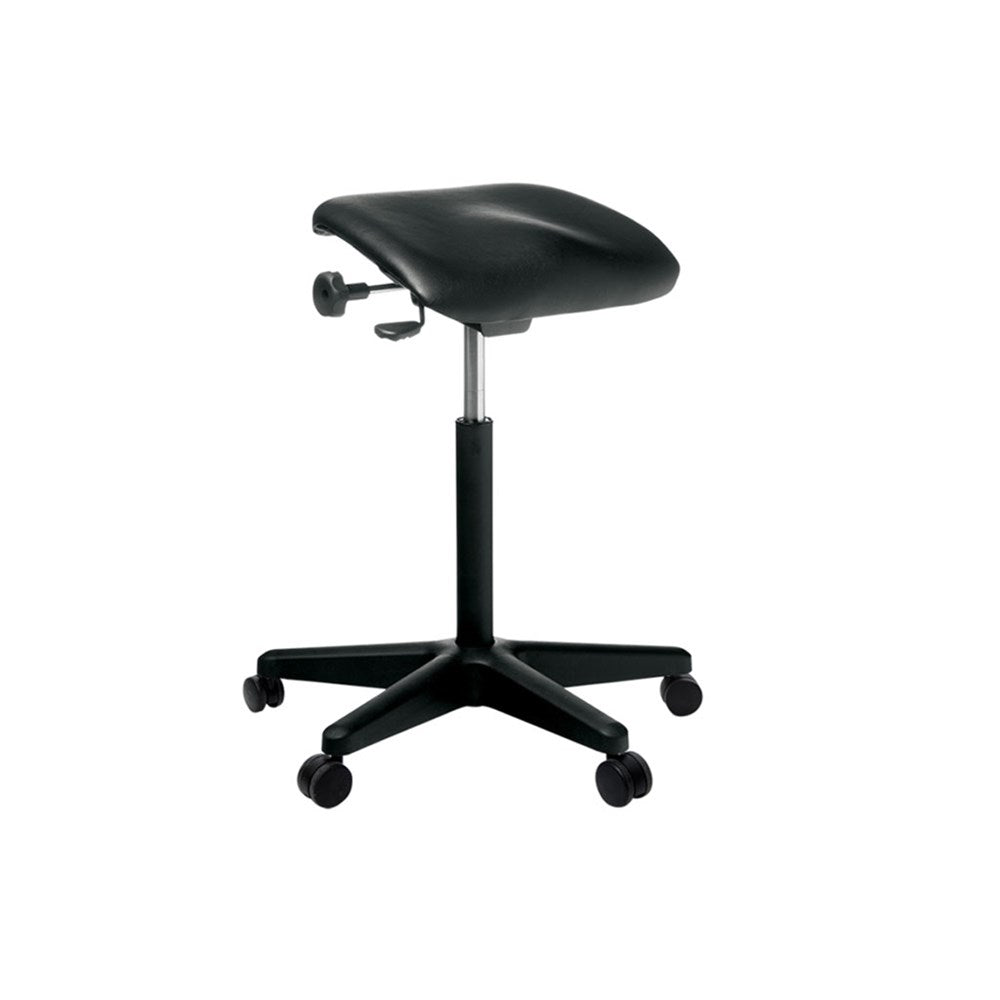 Buro Posturite Black Fabric Stool