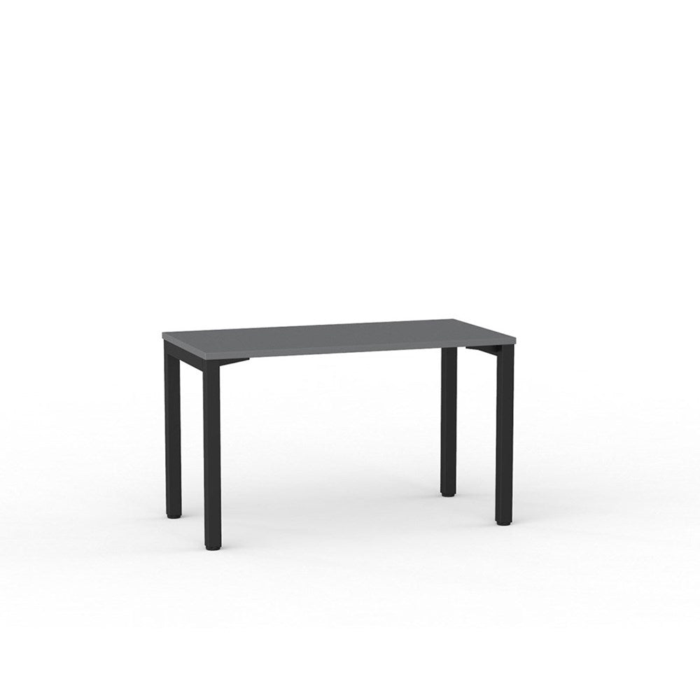 Cubit Straight Desk - Black / Silver