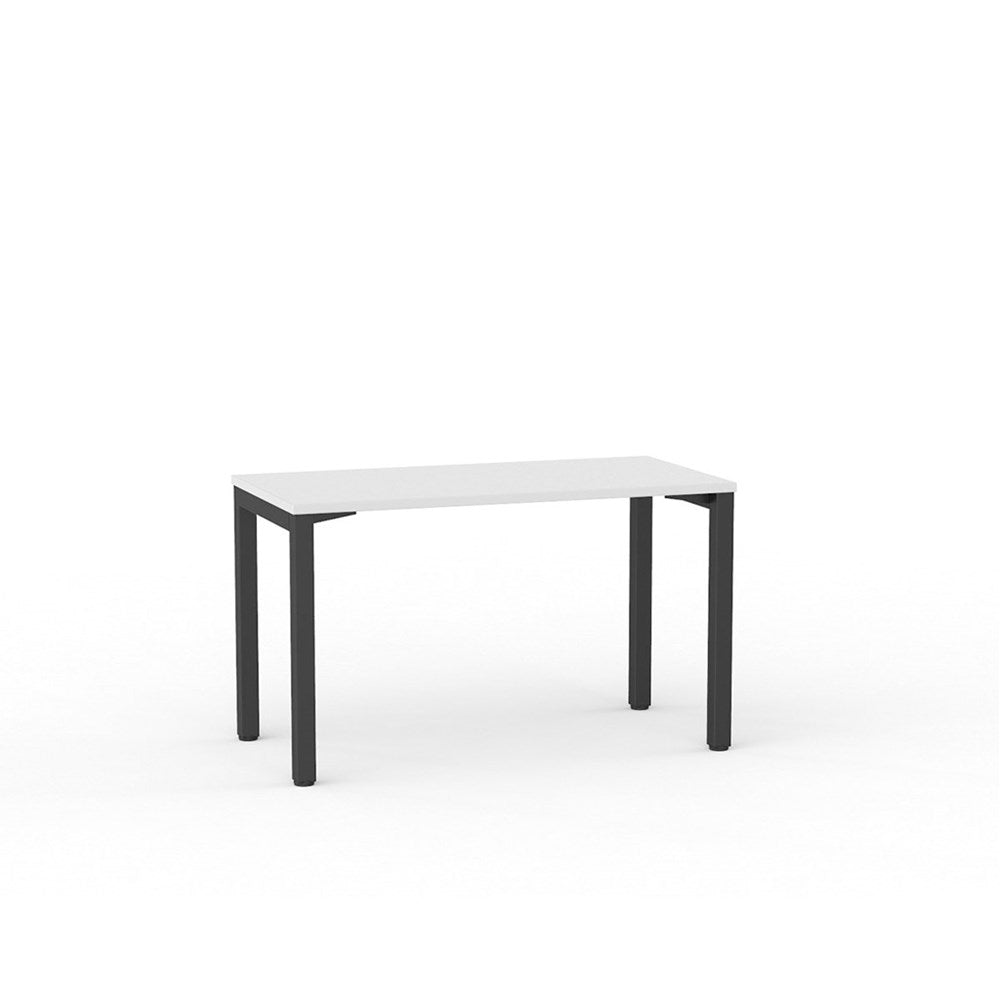 Cubit Straight Desk - Black / White