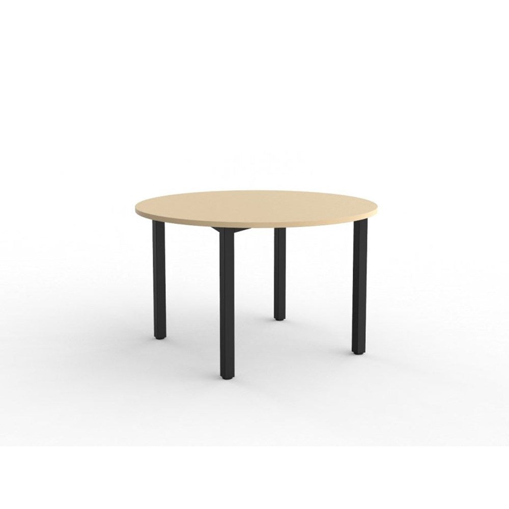 Cubit Black 1200 Round Meeting Table