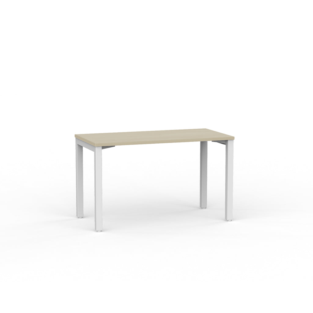 Cubit Straight Desk - White / Nordic Maple