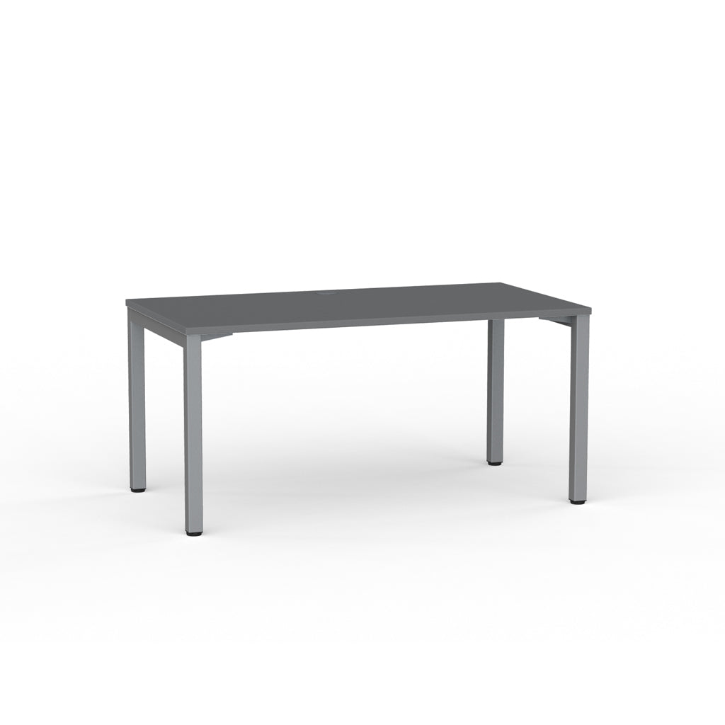 Cubit  Straight Desk - Silver / Silver