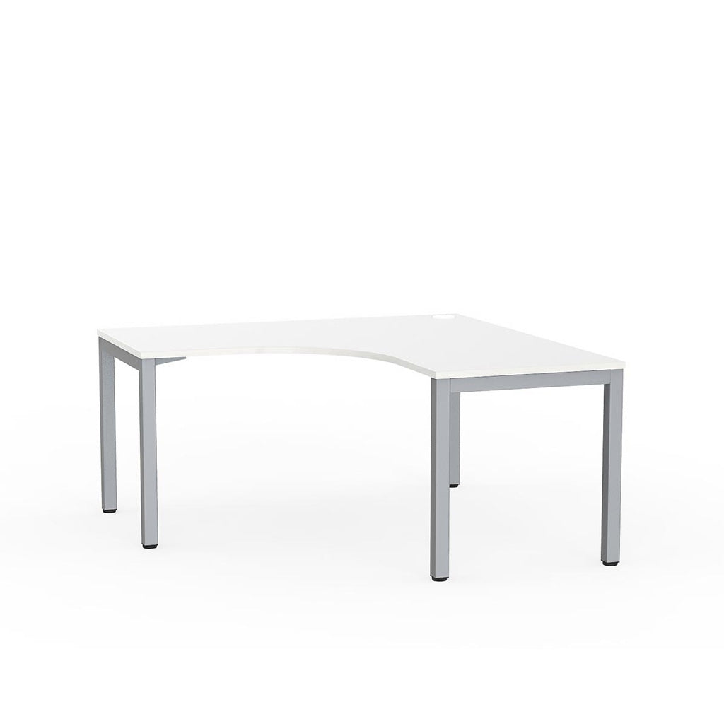Cubit Corner Desk - Silver / White