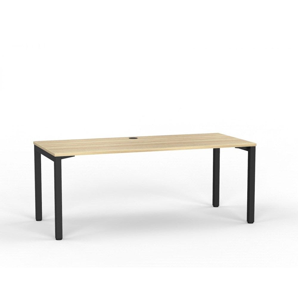 Cubit Straight Desk - Black / Atlantic Oak