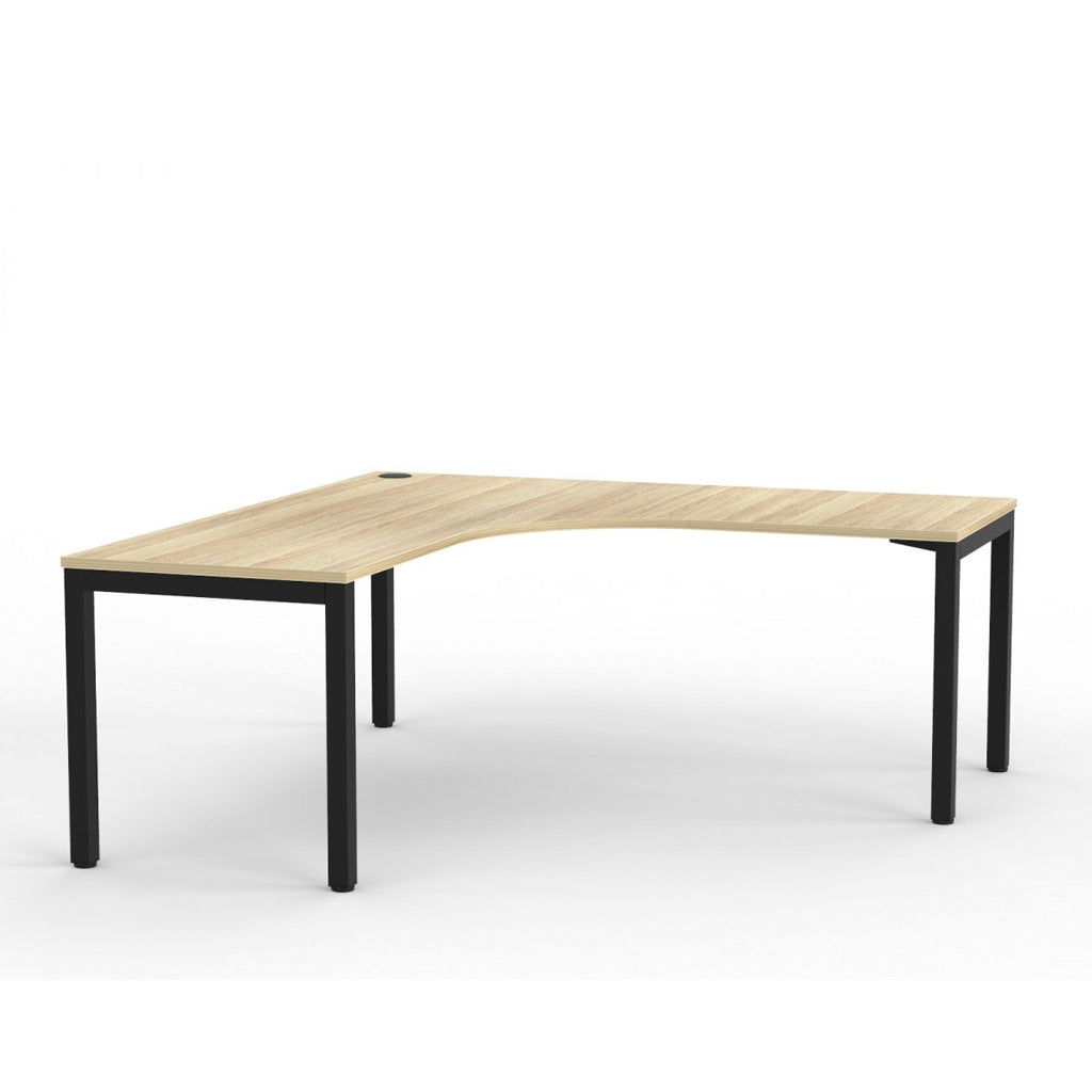 Cubit Corner Desk - Black / Atlantic Oak