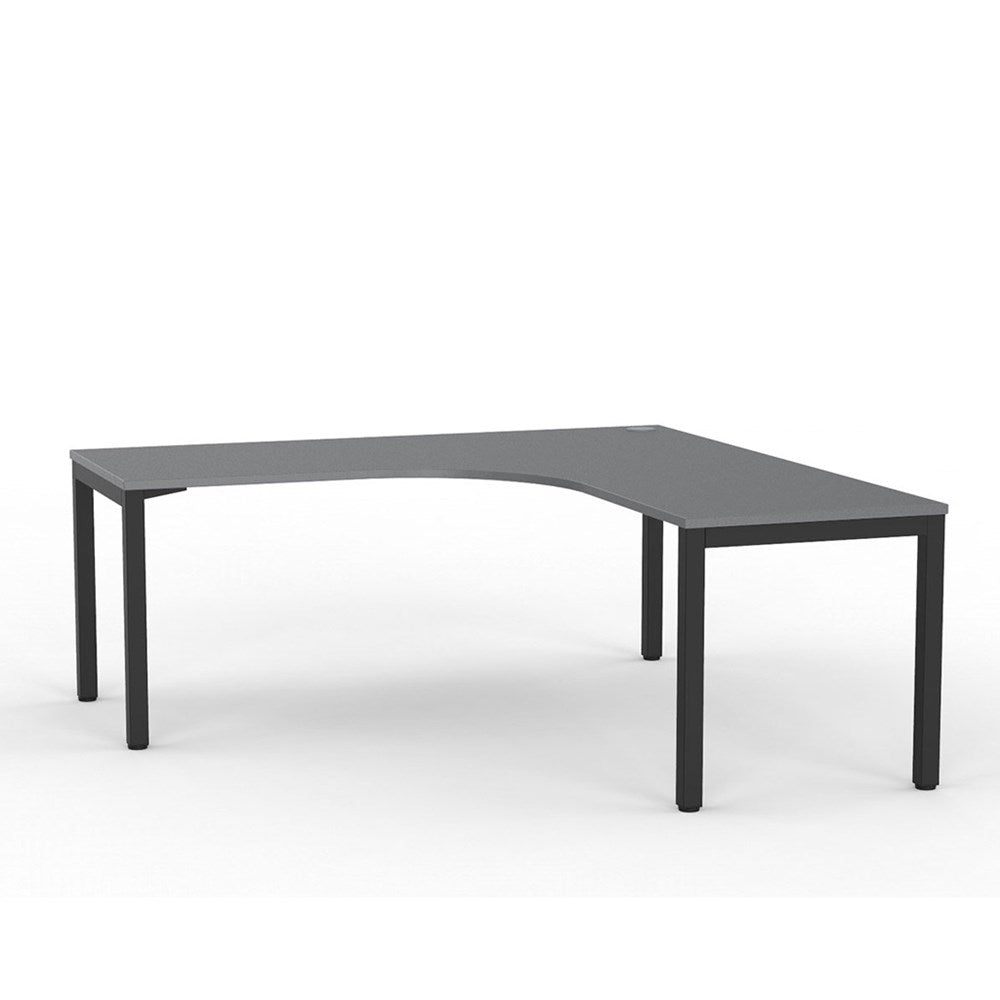 Cubit Corner Desk – Black / Silver